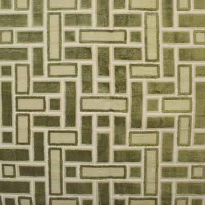F2816 Lawn Fabric: E85, GEOMETRIC, VELVET, TEXTURE, GREEN, CUT VELVET