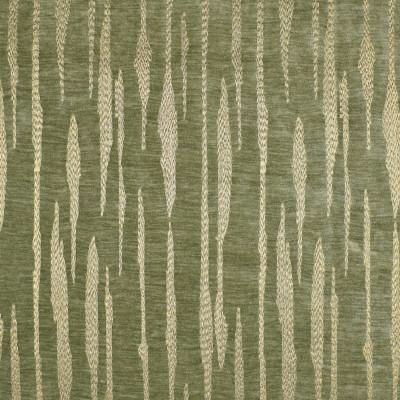 F2819 Sprout Fabric: E85, METALLIC, STRIPE, EMBROIDERY, GOLD, GREEN, CHENILLE