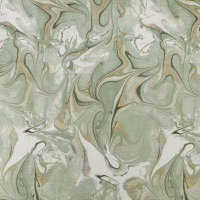 F2824 Aloe Fabric: E85, CONTEMPORARY, MARBLE, CHENILLE, PRINT, GREEN, ALOE