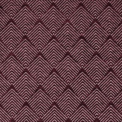 F2834 Berry Fabric: E85, GEOMETRIC, CHENILLE, DIAMOND, WOVEN, PURPLE, BERRY