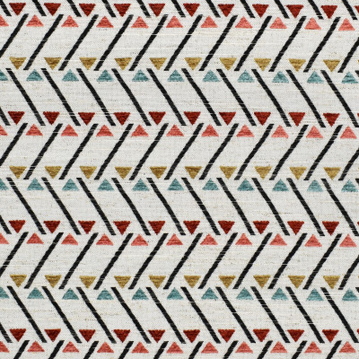 F2836 Primrose Fabric: E85, GEOMETRIC, CONTEMPORARY, TEXTURE, PINK, RED, TEAL, MULTI