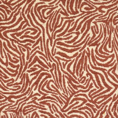 F2837 Cinnamon Fabric: E85, ANIMAL, SKIN, CHENILLE, WOVEN, ORANGE, RED, CINNAMON