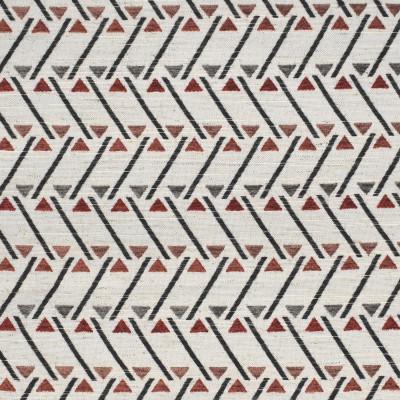 F2838 Cayenne Fabric: E85, GEOMETRIC, CONTEMPORARY, TEXTURE, ORANGE, RED, CAYENNE