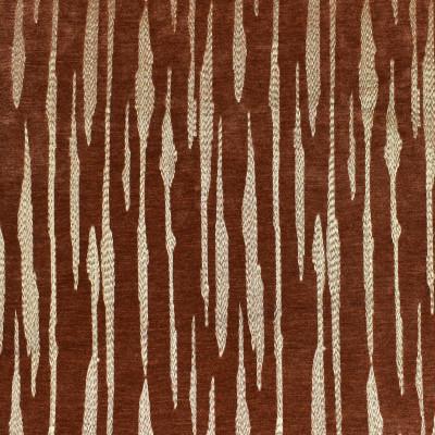 F2840 Sienna Fabric: E85, METALLIC, STRIPE, EMBROIDERY, GOLD, ORANGE, BURNT ORANGE, SIENNA, CHENILLE