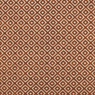F2841 Cinnamon Fabric: E85, DIAMOND, GEOMETRIC, WOVEN, TEXTURE, ORANGE, CINNAMON, SMALL SCALE, CHAIR SCALE