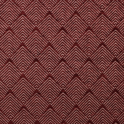 F2843 Merlot Fabric: E85, GEOMETRIC, CHENILLE, DIAMOND, WOVEN, RED, MERLOT