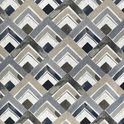 F2980 True Blue Fabric: E80, GEOMETRIC, WOVEN, BLUE