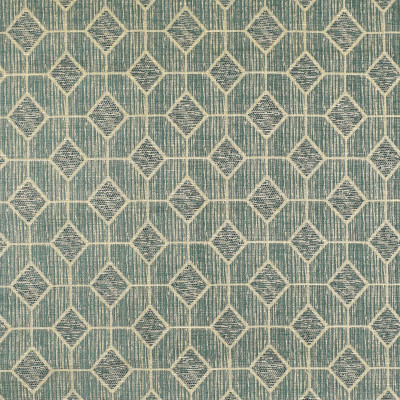 F2993 Aegean Fabric: E80, GEOMETRIC, CHENILLE, TEXTURE, BLUE, AEGEAN