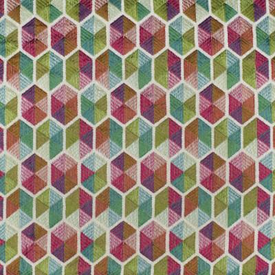 F2998 Carousel Fabric: E80, GEOMETRIC, MATELASSES, MULTI, PINK, GREEN, ORANGE, BLUE, CHENILLE, TEXTURE, HEXAGON