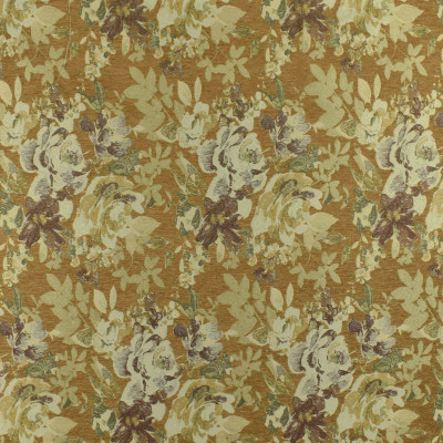F3001 Tuscan Fabric: E80, FLORAL, WOVEN, JACQUARD, CHENILLE, GOLD, RED