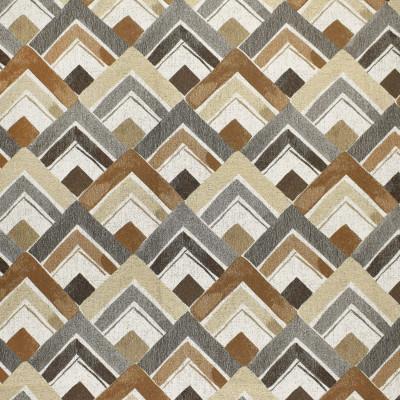 F3029 Desert Fabric: E81, GEOMETRIC, WOVEN, JACQUARD, BROWN, NEUTRAL, GRAY, GREY