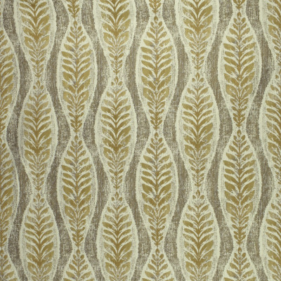 F3032 Travertine Fabric: E81, FOLIAGE, FERN, LEAF, JACQUARD, WOVEN, TEXTURE, NEUTRAL, BROWN