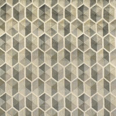 F3038 Sterling Fabric: E81, GEOMETRIC, HEXAGON, CHENILLE, TEXTURE, MATELASSES, GRAY, GREY, STERLING
