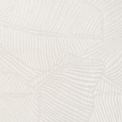 F3134 Cloud Fabric: E86, FOLIAGE, MATELASSE, WHITE, LEAF, PALM, CLOUD, BEACH