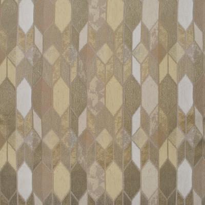 F3143 Sand Fabric: E86, MADE IN USA, GEOMETRIC, METALLIC, CHENILLE, NEUTRAL, SAND