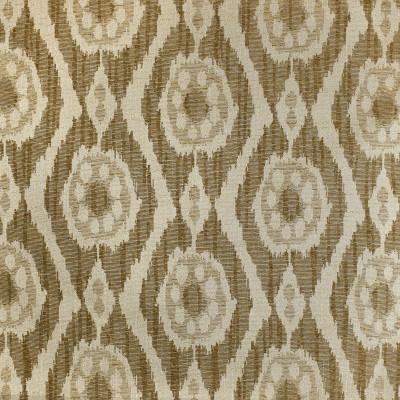 F3167 Coffee Fabric: E86, IKAT, SOUTHWEST, MEDALLION, JACQUARD, WOVEN, BROWN, COFFEE