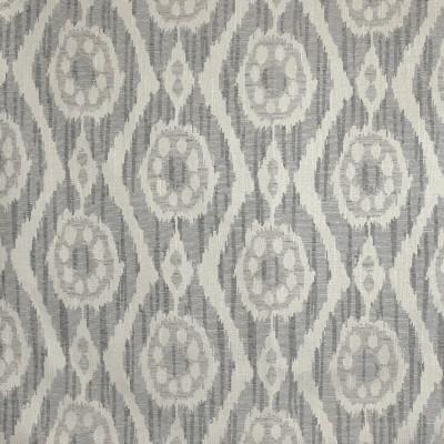 F3203 Smoke Fabric: E87, IKAT, MEDALLION, SOUTHWEST, JACQUARD, TEXTURE, GRAY, GREY, SMOKE