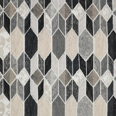 F3214 Charcoal Fabric: E87, MADE IN USA, GEOMETRIC, METALLIC, TEXTURE, GRAY, GREY, BLACK, NEUTRAL, CHARCOAL