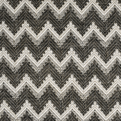 F3217 Ink Fabric: E87, MADE IN USA, CHEVRON, TEXTURE, BLACK, INK