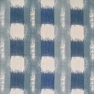 F3220 Spa Fabric: E88, MADE IN USA, GEOMETRIC, CHENILLE, BLUE