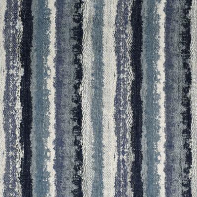 F3254 Ocean Fabric: E88, MADE IN USA, STRIPE, TEXTURE, CHENILLE, BLUE, OCEAN