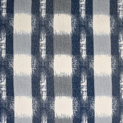 F3261 Storm Fabric: E88, MADE IN USA, GEOMETRIC, CHENILLE, BLUE, STORM