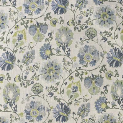 F3281 Lilypad Fabric: M06, E89, FLORAL, JACQUARD, GREEN, BLUE
