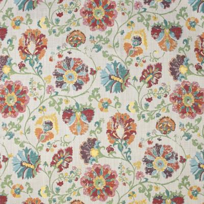F3289 Paprika Fabric: E89, FLORAL, JACQUARD, TEAL, RED, PAPRIKA