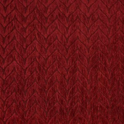 F3308 Burgundy Fabric: E89, MADE IN USA, GEOMETRIC, CHENILLE, RED, BURGUNDY