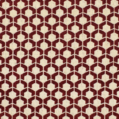 F3311 Sangria Fabric: E89, MADE IN USA, GEOMETRIC, WOVEN, RED, SMALL SCALE, SANGRIA