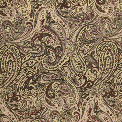 F3480 Blush Fabric: E92, TRADITIONAL, TAPESTRY, WOVEN, PAISLEY, RED, BLACK, PINK, BLUSH
