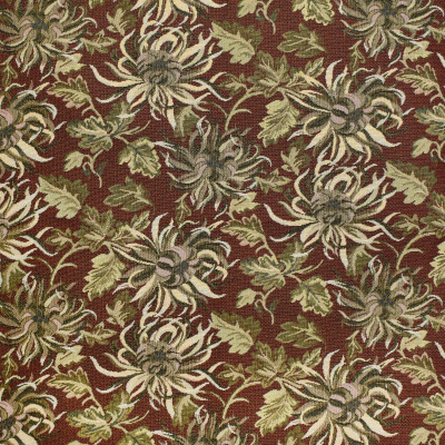 F3482 Currant Fabric: E92, TRADITIONAL, TAPESTRY, WOVEN, FLORAL, RED, CURRANT