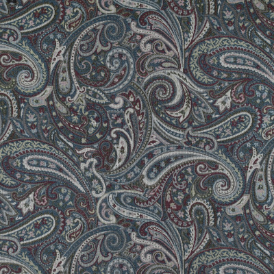 F3493 Royal Blue Fabric: E92, TRADITIONAL, TAPESTRY, WOVEN, PAISLEY, BLUE, RED, ROYAL BLUE