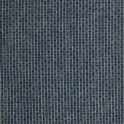F3599 Ink Fabric: E94, PERFORMANCE, SUSTAIN, MADE IN USA, BLEACH CLEANABLE, STRIPE, CHENILLE, BLUE, INK