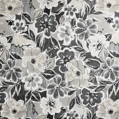 F3777 Charcoal Fabric: M06, FLORAL, JACQUARD, BLACK, GRAY, GREY, CHARCOAL