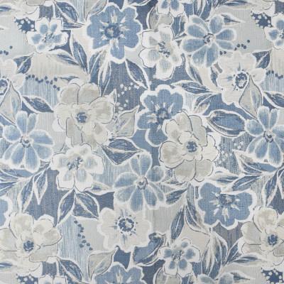 F3780 Bluestar Fabric: M06, FLORAL, JACQUARD, BLUE, BLUESTAR