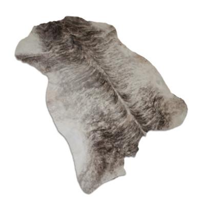 HOH003 Grey Brindle Fabric: LEATHER, HOH, HAIR ON HIDE, ANIMAL, COWHIDE, COWHIDE RUG