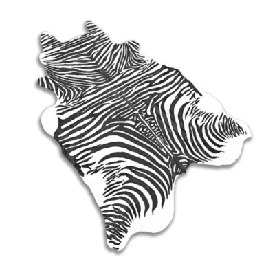 HOH012 Zebra Fabric: LEATHER, HOH, HAIR ON HIDE, ANIMAL, ACID WASHED, STENCILED