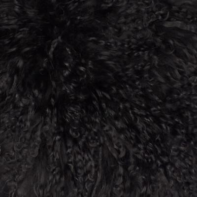 HOH014 Black Sheep Fabric: LEATHER, HOH, HAIR ON HIDE, ANIMAL, SHEEP, TIBETAN SHEEP, GOBI
