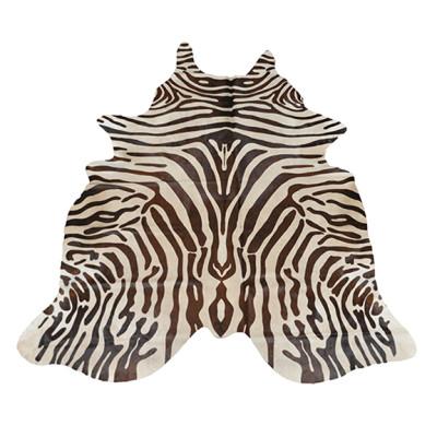 HOH022 Zebra Brown Fabric: LEATHER, HOH, HAIR ON HIDE, ANIMAL, ZEBRA