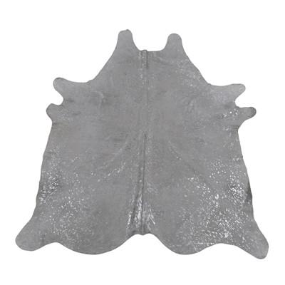 HOH023 Bling Fabric: LEATHER, HOH, HAIR ON HIDE, ANIMAL, METALLIC, COWHIDE, COWHIDE RUG