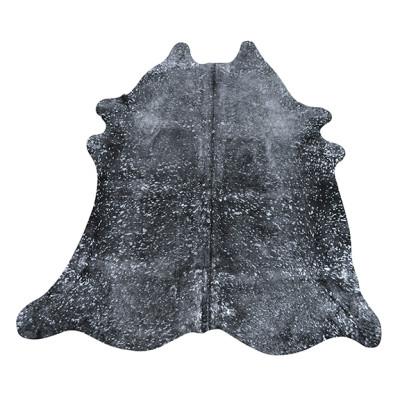 HOH025 Sparkle Fabric: LEATHER, HOH, HAIR ON HIDE, ANIMAL, METALLIC, COWHIDE, COWHIDE RUG