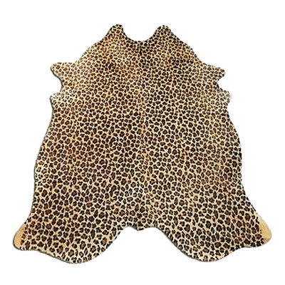 HOH029 Leopard Fabric: LEOPARD, PRINTED, GOLD, ANIMAL, PRINTED COWHIDE, HOH, HAIR, HAIR ON HIDE, LEATHER