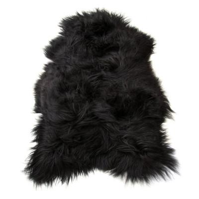 HOH032 Black Brown Fabric: BLACK BROWN, BLACK, BROWN, LONG HAIR, SHEEP SKIN, HOH, HAIR, HAIR ON HIDE, LEATHER