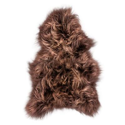 HOH033 Chestnut Fabric: CHESTNUT, BROWN, DARK BROWN, DK BROWN, LONG HAIR, SHEEP SKIN, HOH, HAIR, HAIR ON HIDE, LEATHER
