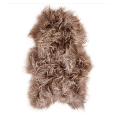 HOH035 Taupe Fabric: TAUPE, BROWN, LIGHT BROWN, LONG HAIR, SHEEP SKIN, HOH, HAIR, HAIR ON HIDE, LEATHER