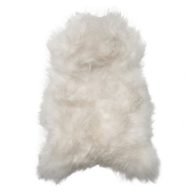 HOH036 Natural White Fabric: NATURAL WHITE, NEUTRAL, WHITE, SNOW, LONG HAIR, SHEEP SKIN, HOH, HAIR, HAIR ON HIDE, LEATHER