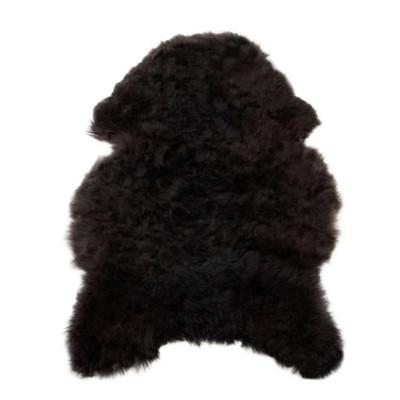 HOH038 Black Brown Fabric: BLACK BROWN, BLACK, BROWN, LONG HAIR, SHEEP SKIN, HOH, HAIR, HAIR ON HIDE, LEATHER
