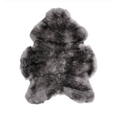 HOH043 Silver Dark Tipped Fabric: SILVER DARK TIPPED, SHORT HAIR, SHEEP SKIN, HOH, HAIR, HAIR ON HIDE, LEATHER