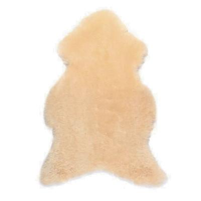 HOH044 Ivory Fabric: IVORY, NEUTRAL, YELLOW, NATURAL, SHEEP SKIN, LONG HAIR SHEEP SKIN, HOH, HAIR, HAIR ON HIDE, LEATHER